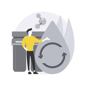 Waterfiltersysteem. innovatieve oplossing voor waterfiltratie, thuisbehandelingssysteem, drinkwaterbezorgservice, filtratie van het hele huis.