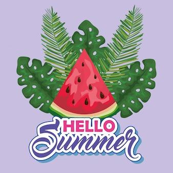 Waterfruit met exotische bladeren tot zomertijd