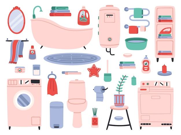 Waterkast en handdoekdroger en chemicaliën