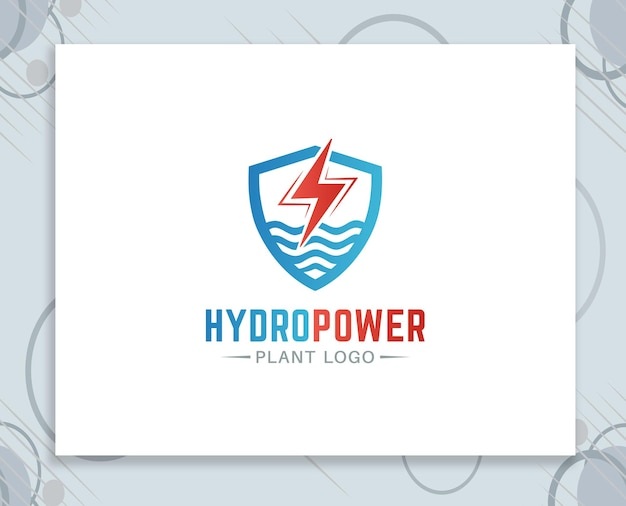 Waterkrachtcentrale logo ontwerp