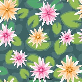 Waterlelies patroon