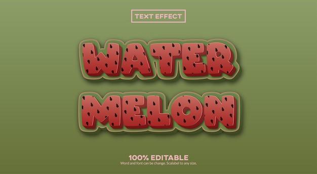 Watermeloen 3d-teksteffect