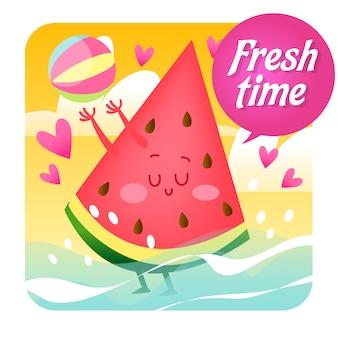 Watermeloen achtergrond ontwerp