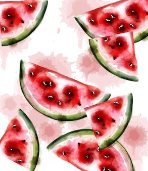 Watermeloen aquarel textuur