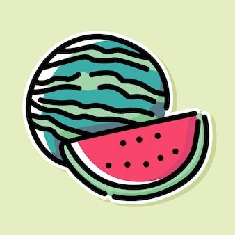 Watermeloen cartoon ontwerp