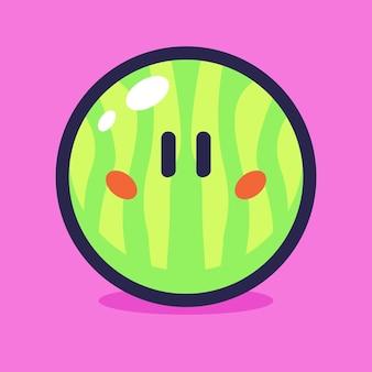 Watermeloen cartoon vectorillustratie