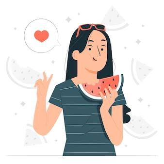 Watermeloen concept illustratie