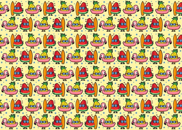 Watermeloen en ananaspatroon