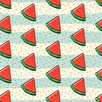 Watermeloen fruit patroon achtergrond