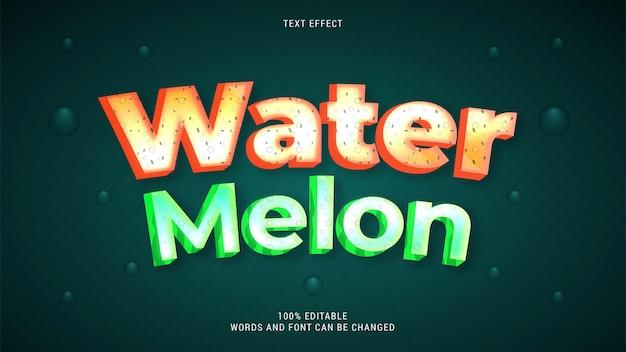 Watermeloen fruit teksteffect bewerkbare vector Premium Vector