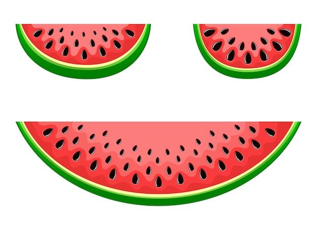 Watermeloen fruit vector ontwerp illustratie geïsoleerd op een witte achtergrond
