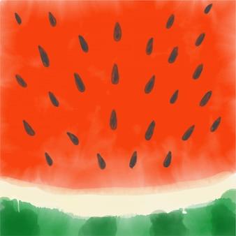 Watermeloen gemaakt met waterverf