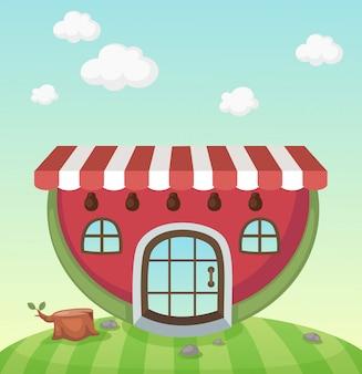 Watermeloen huis