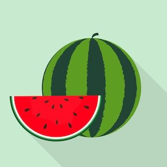 Watermeloen icoon. vectorillustratie geïsoleerd op achtergrond