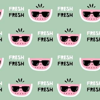 Watermeloen in zonnebril