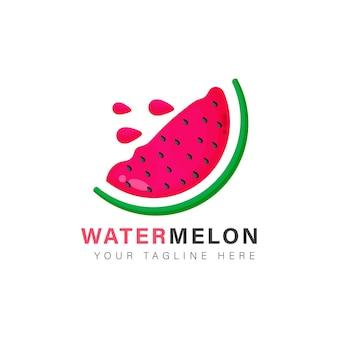 Watermeloen logo ontwerp