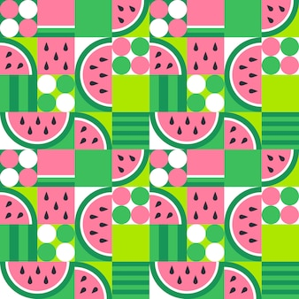 Watermeloen naadloos patroon. abstract zomerfruit