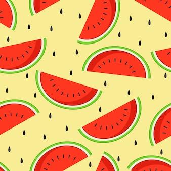 Watermeloen naadloos patroon als achtergrond.
