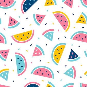 Watermeloen naadloos patroon.