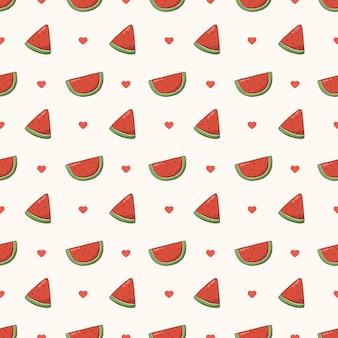 Watermeloen naadloos patroon