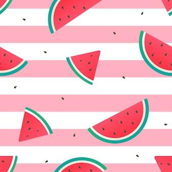 Watermeloen naadloze patroon vector ontwerp