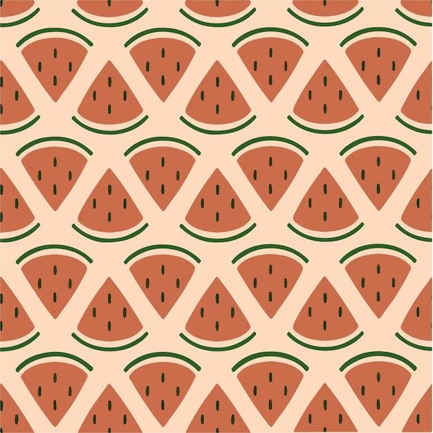 Watermeloen patroon achtergrond social media post fruit vector illustratie