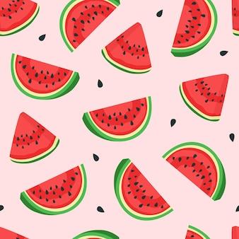 Watermeloen patroon. vector
