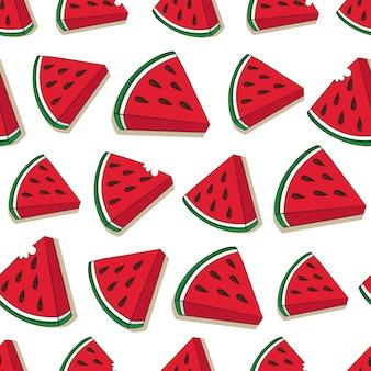 Watermeloen patroonontwerp