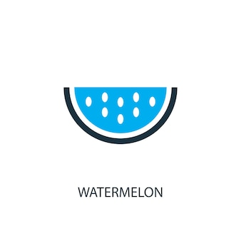 Watermeloen pictogram. logo-element illustratie. watermeloen symbool ontwerp uit 2 gekleurde collectie. eenvoudig watermeloenconcept. kan worden gebruikt in web en mobiel.