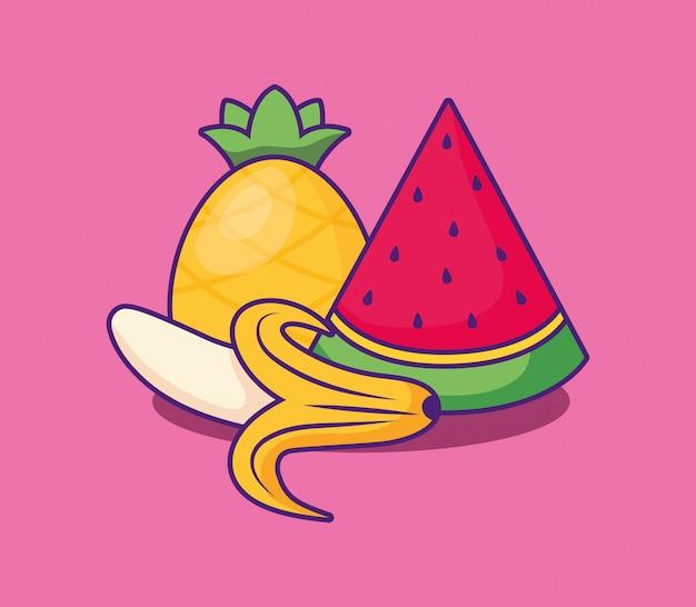 Watermeloen pictogramafbeelding