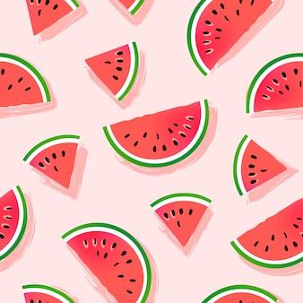 Watermeloen plakjes patroon