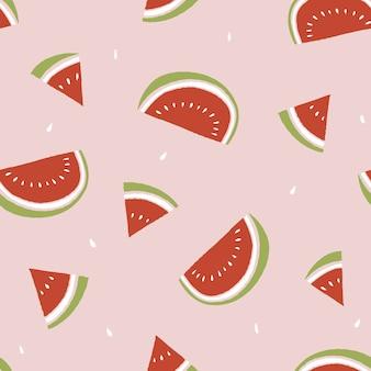 Watermeloen segment zomer patroon