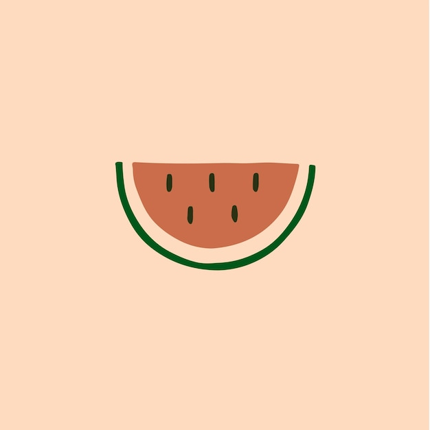 Watermeloen symbool social media post fruit vector illustratie
