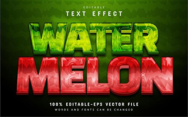 Watermeloen teksteffect