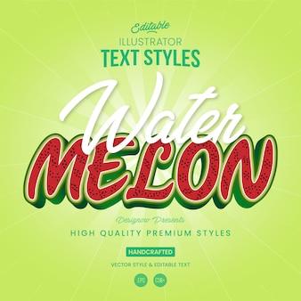 Watermeloen tekststijl