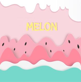 Watermeloen vector ontwerp