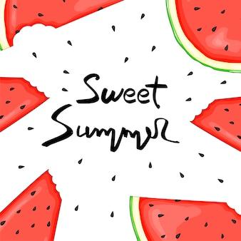 Watermeloen zomer flyer