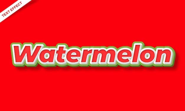 Watermeloenfruit vers teksteffectontwerp