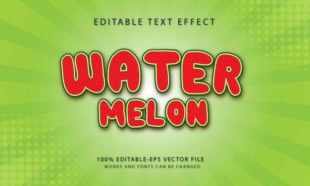 Watermeloentekst, bewerkbaar teksteffect.