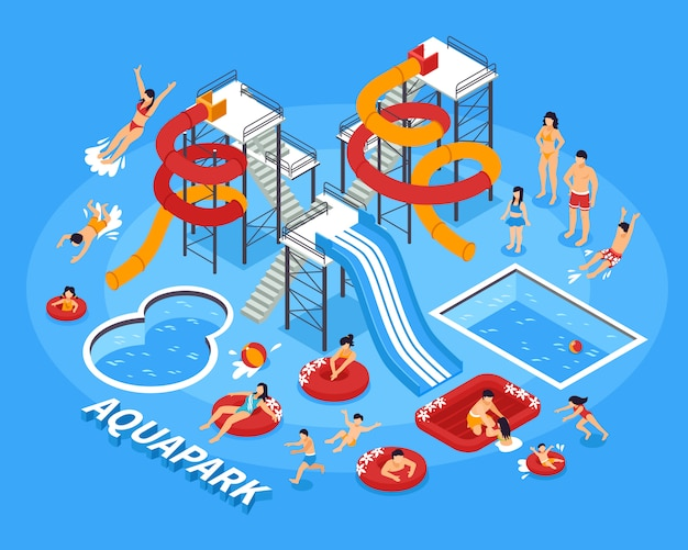 Waterpark illustratie
