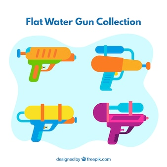 Waterpistolen collectie met verschillende kleuren