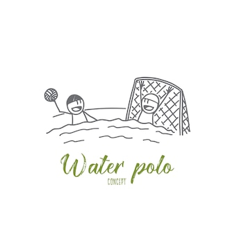 Waterpolo concept illustratie