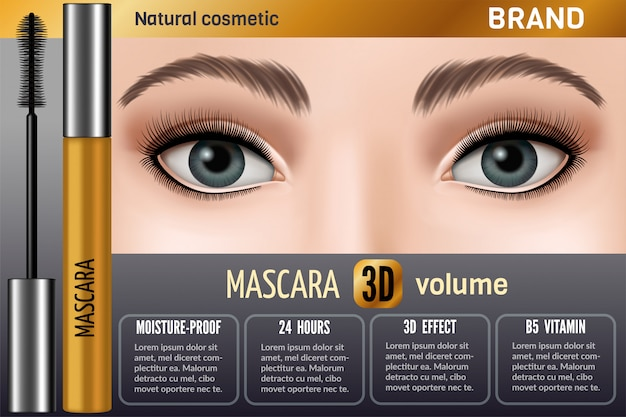 Waterproof mascara design foto voor reclame