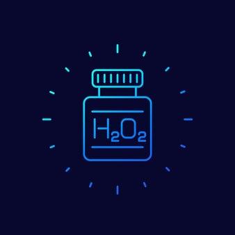 Waterstofperoxide lijn pictogram, vector