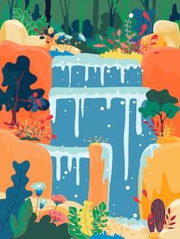 Waterval in een jungle