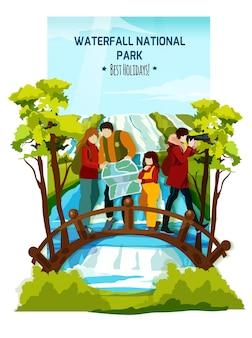Waterval landschap poster
