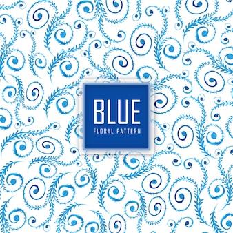 Waterverf blauw bloemenpatroon achtergrond