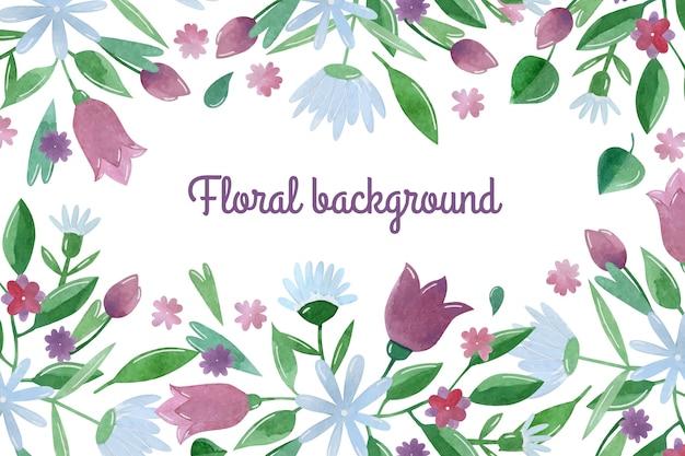 Waterverf bloemenachtergrond gratis
