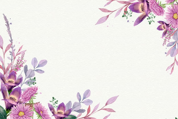 Waterverf bloemenachtergrond in pastelkleuren