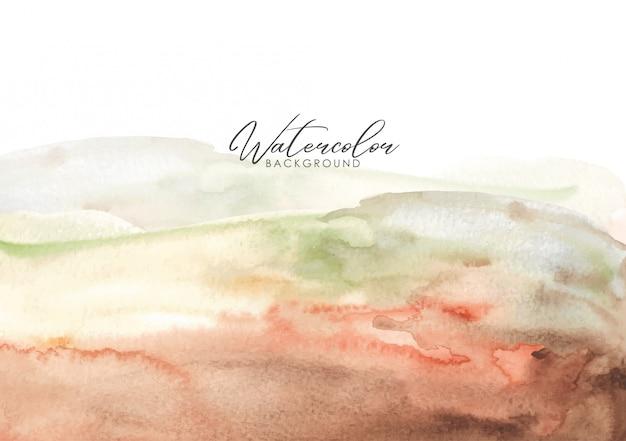 Waterverf die gemengde kleurengradatie borstelen